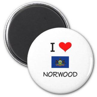 Amo Norwood Pennsylvania Imán Redondo 5 Cm