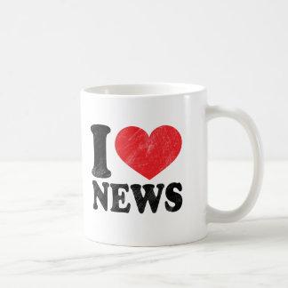 Amo noticias taza de café