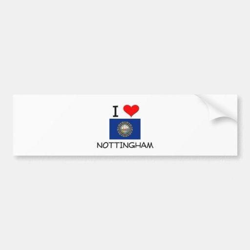 Amo Nottingham New Hampshire Pegatina Para Auto