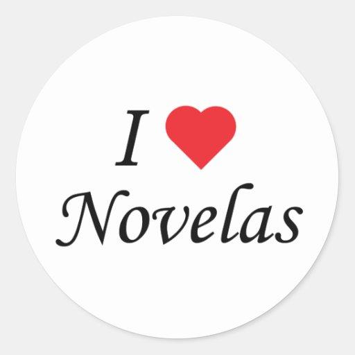 Amo Novelas Pegatina Redonda