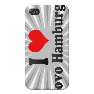 Amo Novo Hamburgo, el Brasil iPhone 4 Fundas