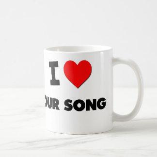 Amo nuestra canción tazas