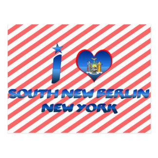 Amo nueva Berlín del sur, Nueva York Postales