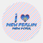 Amo nueva Berlín, Nueva York Pegatina Redonda