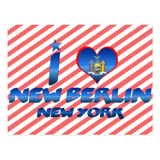 Amo nueva Berlín, Nueva York Tarjetas Postales