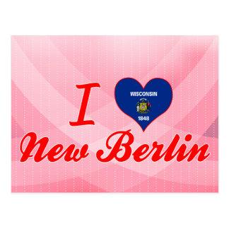 Amo nueva Berlín, Wisconsin Tarjeta Postal