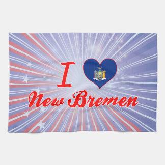 Amo nueva Bremen, Nueva York Toalla De Mano