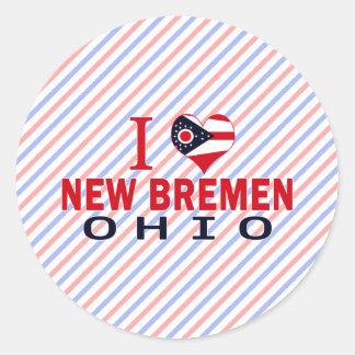 Amo nueva Bremen, Ohio Pegatinas