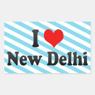 Amo Nueva Deli, la India Rectangular Pegatina
