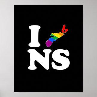 AMO NUEVA ESCOCIA GAY - BLANCO - .PNG POSTER