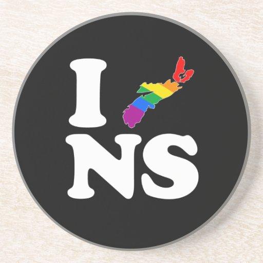 AMO NUEVA ESCOCIA GAY - BLANCO - .PNG POSAVASOS MANUALIDADES