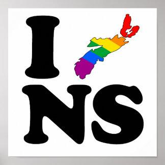 AMO NUEVA ESCOCIA GAY - .PNG POSTER