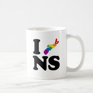 AMO NUEVA ESCOCIA GAY - .PNG TAZA CLÁSICA