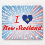 Amo nueva Escocia, Nueva York Alfombrillas De Ratones