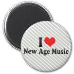 Amo nueva música de la edad imán de nevera