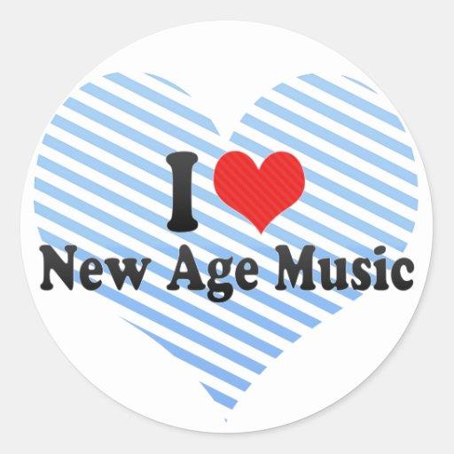 Amo nueva música de la edad pegatina redonda