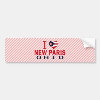 Amo nueva París, Ohio Etiqueta De Parachoque