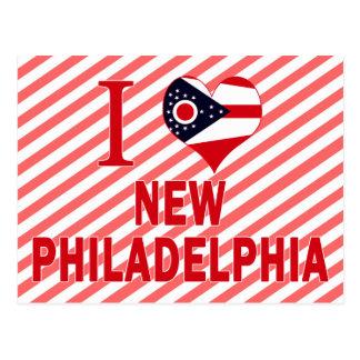 Amo nueva Philadelphia, Ohio Tarjeta Postal