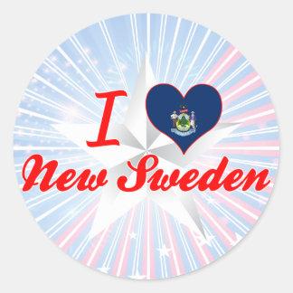 Amo nueva Suecia Maine Etiqueta