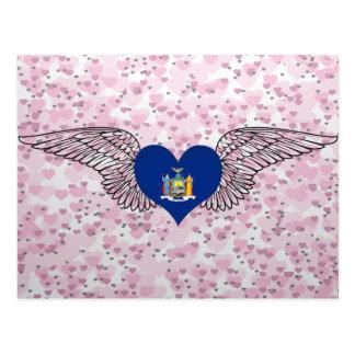 Amo Nueva York - alas Tarjeta Postal