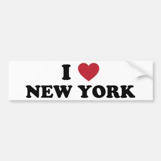 Amo Nueva York Etiqueta De Parachoque