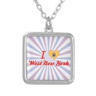 Amo Nueva York del oeste, New Jersey Collares Personalizados