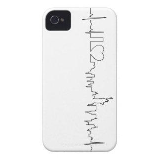 Amo Nueva York en un estilo extraordinario iPhone 4 Case-Mate Carcasa