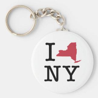 Amo Nueva York Llavero Redondo Tipo Pin
