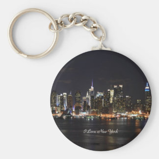 Amo Nueva York, luces brillantes, luces de la ciud Llavero Redondo Tipo Pin