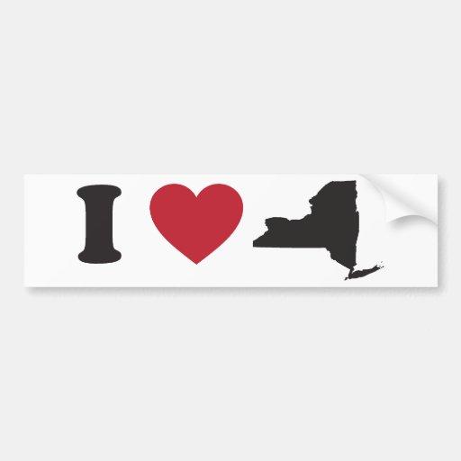 Amo Nueva York Pegatina Para Auto