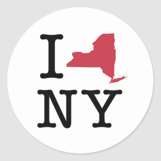 Amo Nueva York Pegatina Redonda