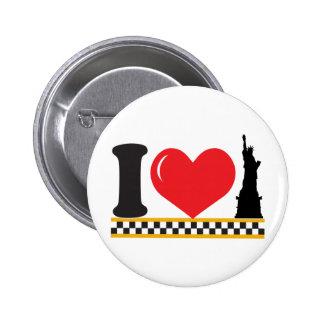 Amo Nueva York Pin Redondo De 2 Pulgadas