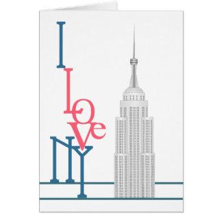 Amo Nueva York Tarjeta De Felicitación