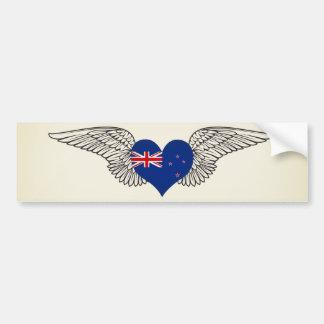 Amo Nueva Zelanda - alas Pegatina Para Auto