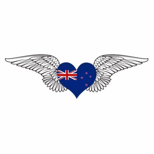 Amo Nueva Zelanda - alas Escultura Fotográfica