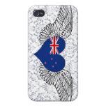 Amo Nueva Zelanda - alas iPhone 4 Carcasa