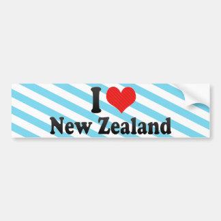 Amo Nueva Zelanda Etiqueta De Parachoque