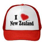 Amo Nueva Zelanda Gorros Bordados
