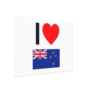 amo Nueva Zelanda Lienzo Envuelto Para Galerias