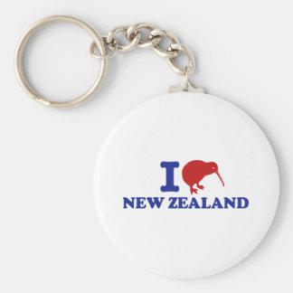 Amo Nueva Zelanda Llavero Redondo Tipo Pin