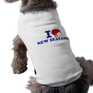 Amo Nueva Zelanda Playera Sin Mangas Para Perro