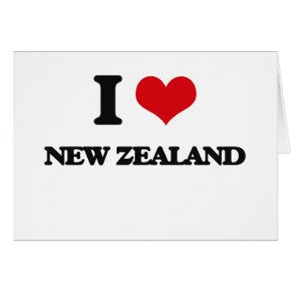 Amo Nueva Zelanda Tarjeta De Felicitación