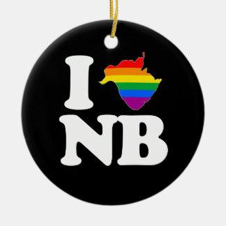 AMO NUEVO BRUNSWICK GAY - BLANCO - .PNG ADORNO NAVIDEÑO REDONDO DE CERÁMICA