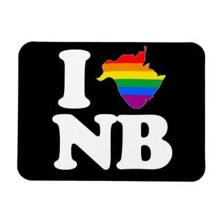 AMO NUEVO BRUNSWICK GAY - BLANCO - PNG IMÁN DE VINILO
