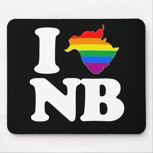 AMO NUEVO BRUNSWICK GAY - BLANCO - .PNG TAPETE DE RATONES