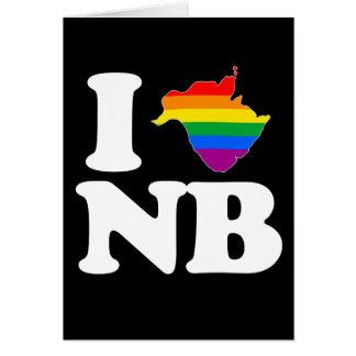 AMO NUEVO BRUNSWICK GAY - BLANCO - .PNG TARJETA DE FELICITACIÓN