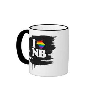AMO NUEVO BRUNSWICK GAY - BLANCO - .PNG TAZA DE DOS COLORES