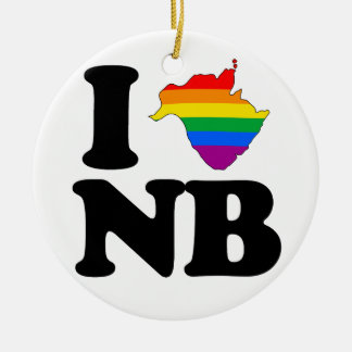 AMO NUEVO BRUNSWICK GAY - .PNG ADORNO NAVIDEÑO REDONDO DE CERÁMICA