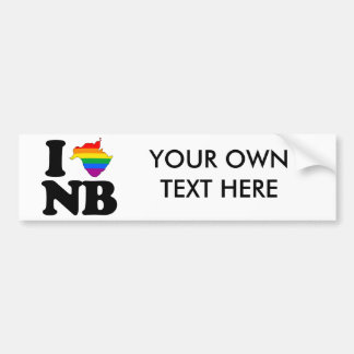 AMO NUEVO BRUNSWICK GAY - PNG ETIQUETA DE PARACHOQUE