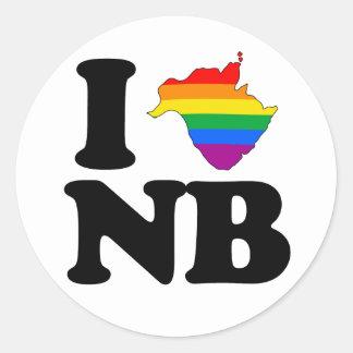 AMO NUEVO BRUNSWICK GAY - .PNG PEGATINAS REDONDAS